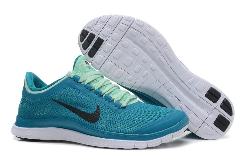 Womens Nike Free 3.0 V5 Tropical Teal Black Arctic Running Shoes