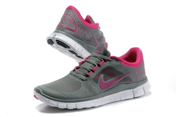 Womens Nike Free 5.0 V3 Dark Grey Pink Running Shoes