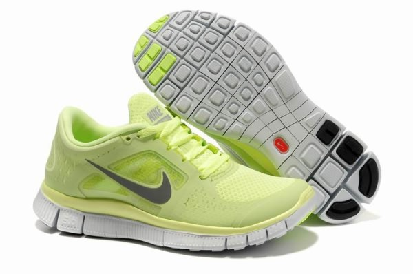 Womens Nike Free 5.0 V3 Light Fluorescence Green Running Shoes