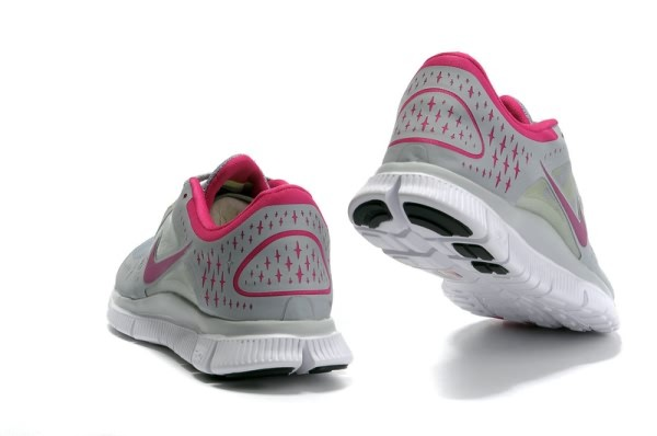 Womens Nike Free 5.0 V3 Light Grey Pink Running Shoes