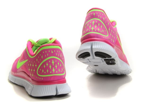 Womens Nike Free 5.0 V3 Pink Fluorescence Green Running Shoes