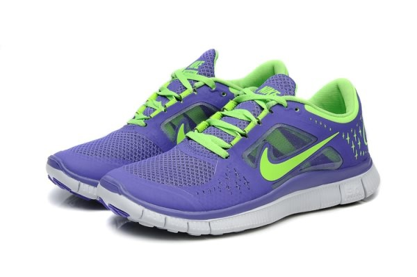 Womens Nike Free 5.0 V3 Purple Green Running Shoes