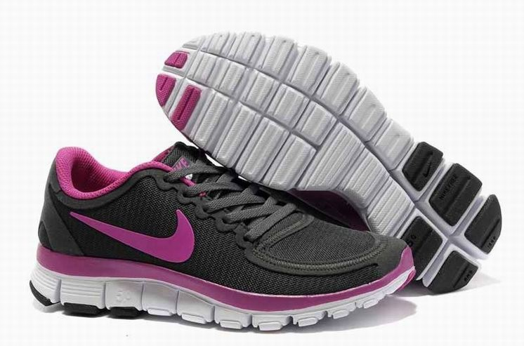 Womens Nike Free 5.0 V4 Deep Grey Pink Running Shoes
