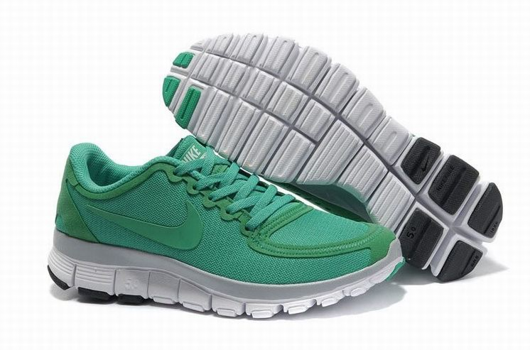 Womens Nike Free 5.0 V4 Green Running Shoes
