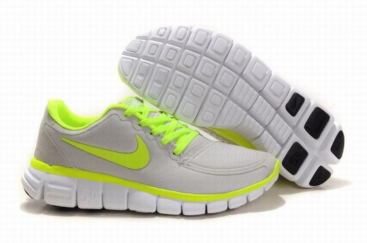Womens Nike Free 5.0 V4 Grey Green Running Shoes