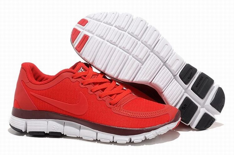 Womens Nike Free 5.0 V4 Red Running Shoes