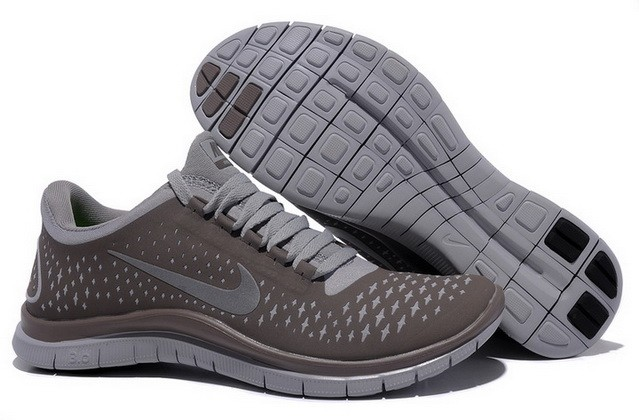 Womens Nike Free Run 3.0 V4 Coffee Silver Running Shoes