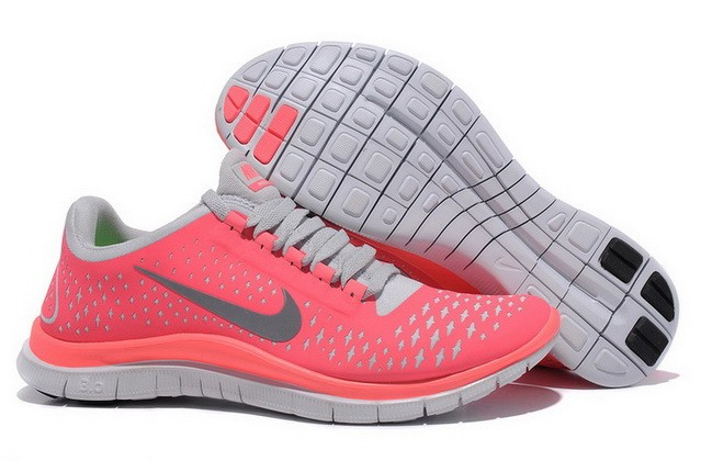 Womens Nike Free Run 3.0 V4 Hot Punch Pink Running Shoes