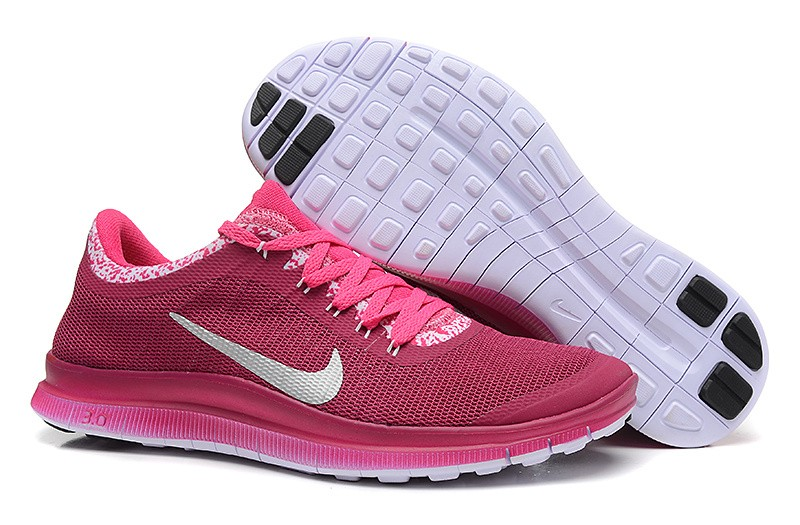 Womens Nike Free Run 3.0 V6 Wine Red Pink Running Shoes