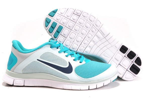 Womens Nike Free Run 4.0 V3 Jade White Running Shoes