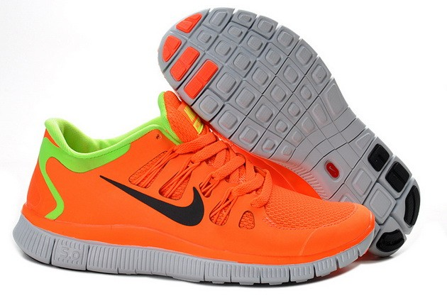 Womens Nike Free Run 5.0 V2 Watermelon Red Fluorescent Green Running Shoes
