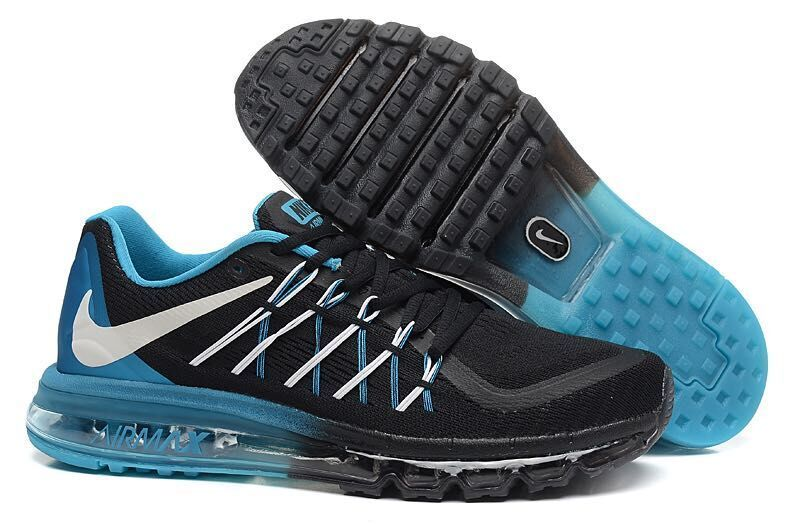 Air Max 2015 Men Nike Shoes Black Blue