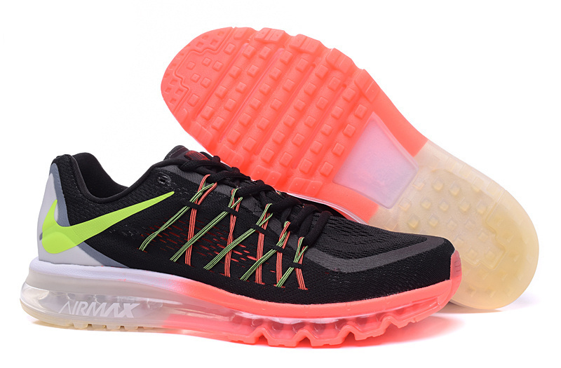 Air Max 2015 Men Nike Shoes Black White Orange