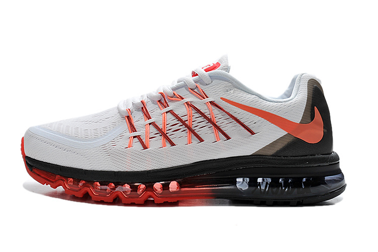Air Max 2015 Men White Black Red