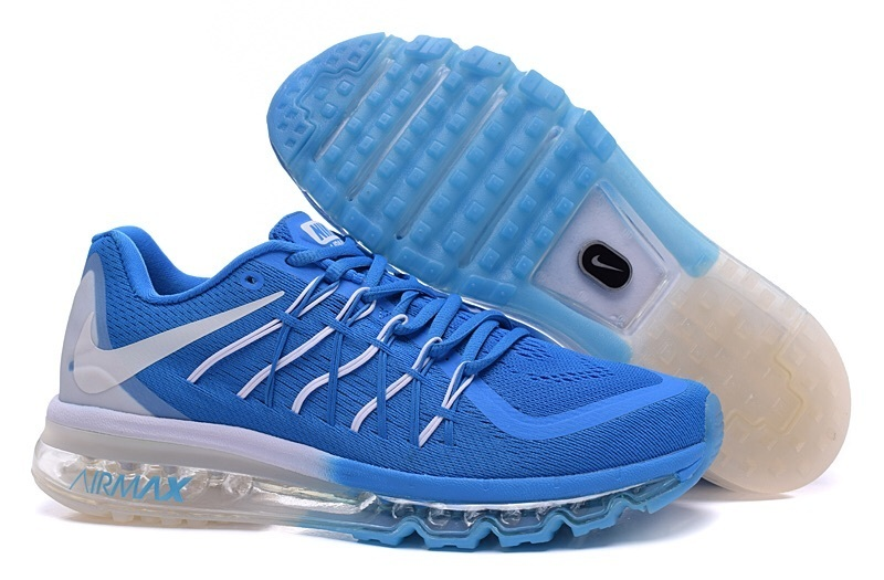 Air Max 2015 Nike Men Running Shoes Blue White