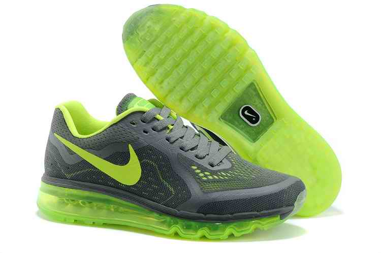Discount Nike Air Max 2015 Man Running Shoes - Gray Fluorescent Green HT984607