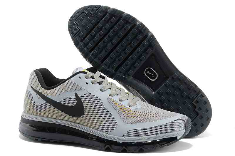 Discount Nike Air Max 2015 Man Running Shoes - Gray Yellow Black FU681527