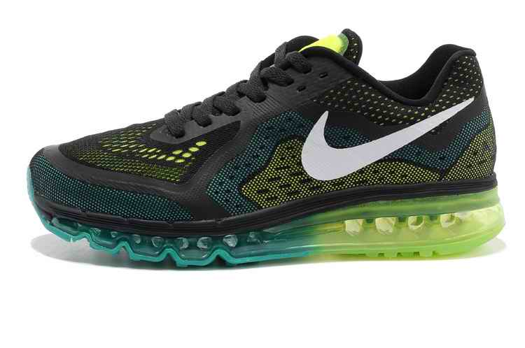 Discount Nike Air Max 2015 Men Running Shoes - Black Gray Fluorescent Green FI690378
