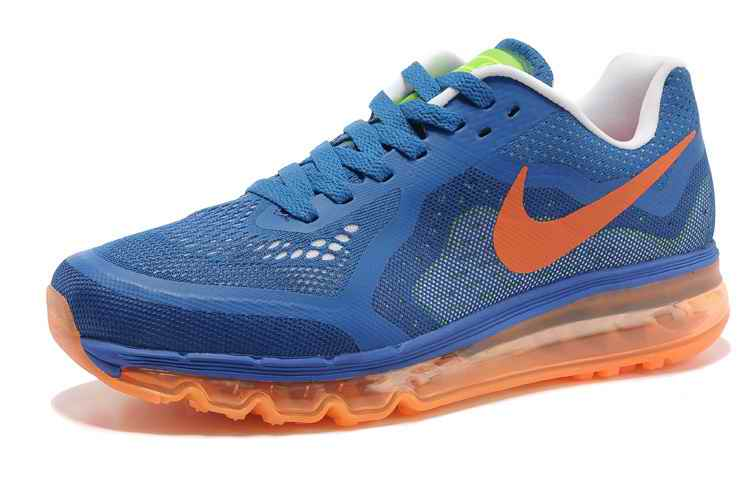 Discount Nike Air Max 2015 Men Running Shoes - Blue Orange RH756104