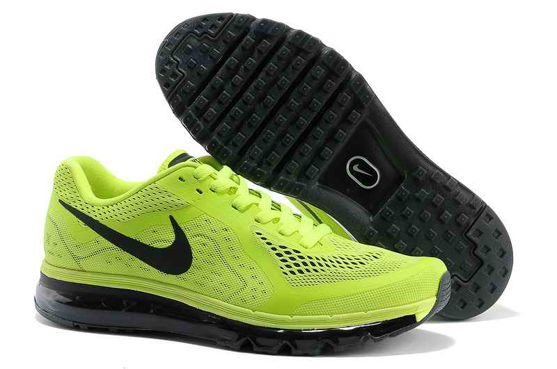 Discount Nike Air Max 2015 Men Running Shoes - Fluorescent Green Black HR085162