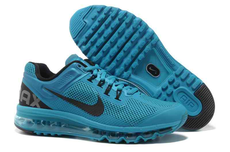 Discount Nike Air Max 2015 Mesh Cloth Men Sports Shoes - Blue Black PC298137