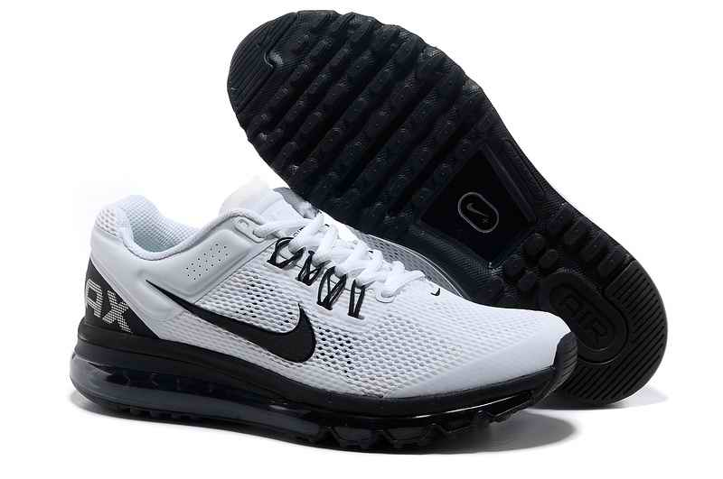 Discount Nike Air Max 2015 Mesh Cloth Men Sports Shoes - White Black IK436752