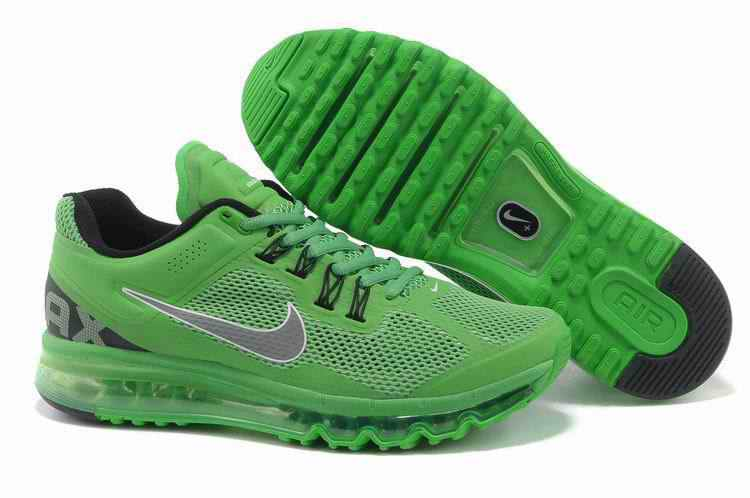 Discount Nike Air Max 2015 Mesh Cloth Men's Sports Shoes - Apple Green YX028567