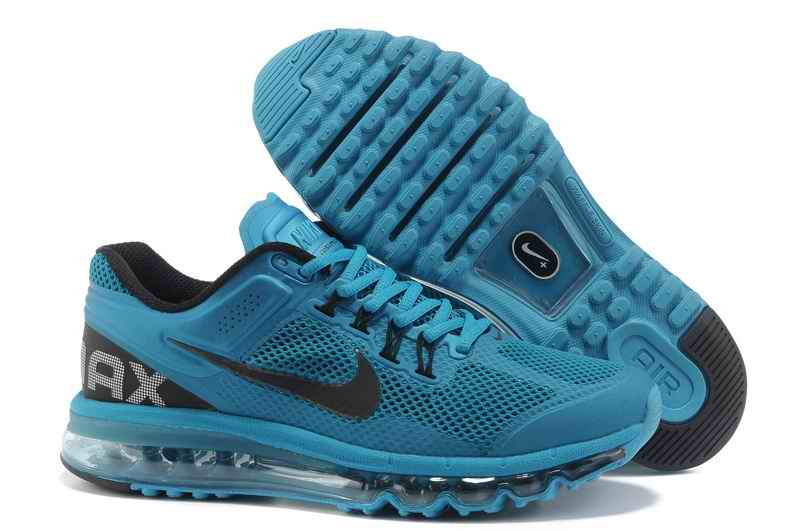 Discount Nike Air Max 2015 Mesh Cloth Men's Sports Shoes - Blue Black GV073841