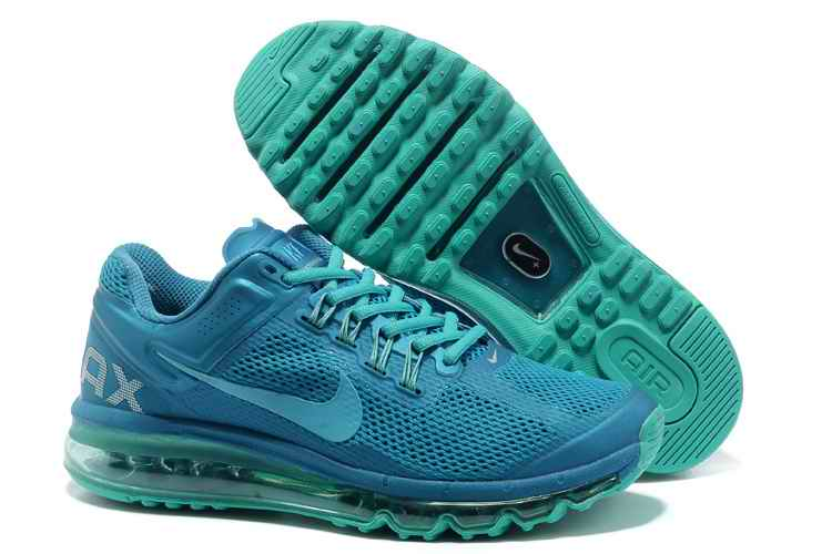 Discount Nike Air Max 2015 Mesh Cloth Men's Sports Shoes - Blue XW289356