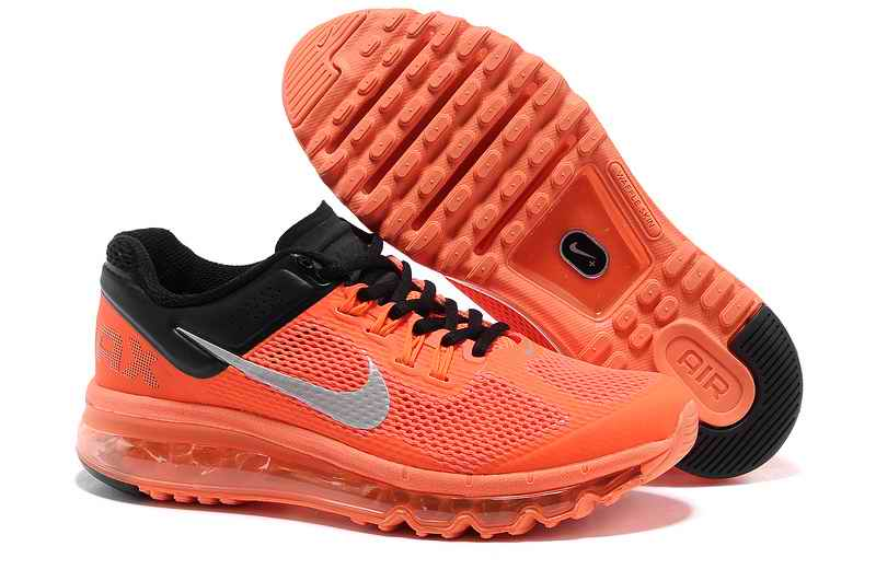 Discount Nike Air Max 2015 Mesh Cloth Men's Sports Shoes - Orange Black PM748016