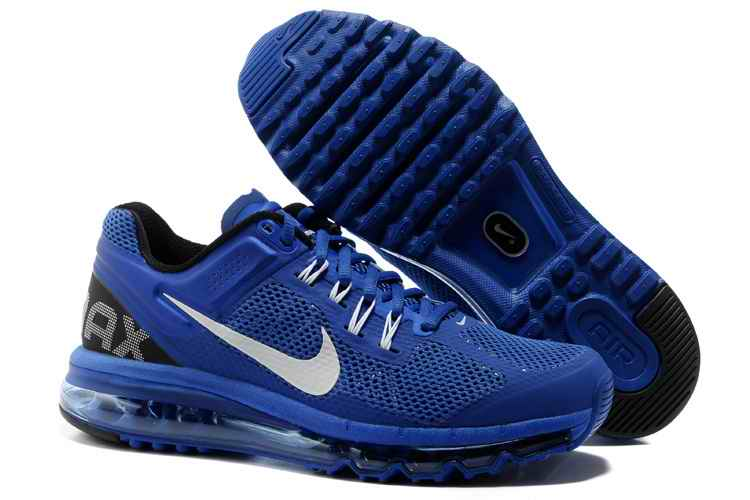 Discount Nike Air Max 2015 Mesh Cloth Men's Sports Shoes - Sapphire Blue White IY379810
