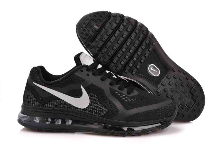 Discount Nike Air Max 2015 Mesh cloth Man Running Shoes - Black Silver UB293154