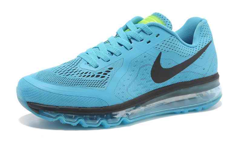 Discount Nike Air Max 2015 Mesh cloth Man Running Shoes - Blue Black ST241396