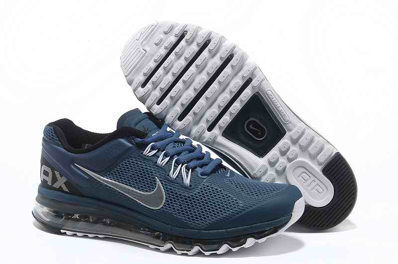 Discount Nike Air Max 2015 Mesh cloth Man Sports Shoes - Blue Silver BP629413