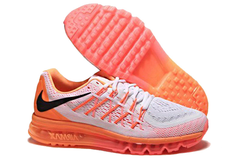 Air Max 2015 Nike Men Running Shoes White Orange
