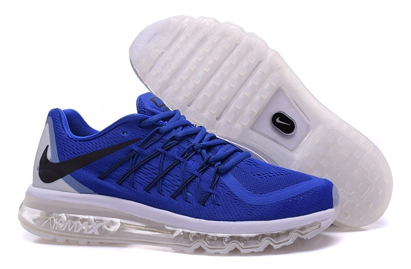 Nike Air Max 2015 Men Running Shoes Black Blue
