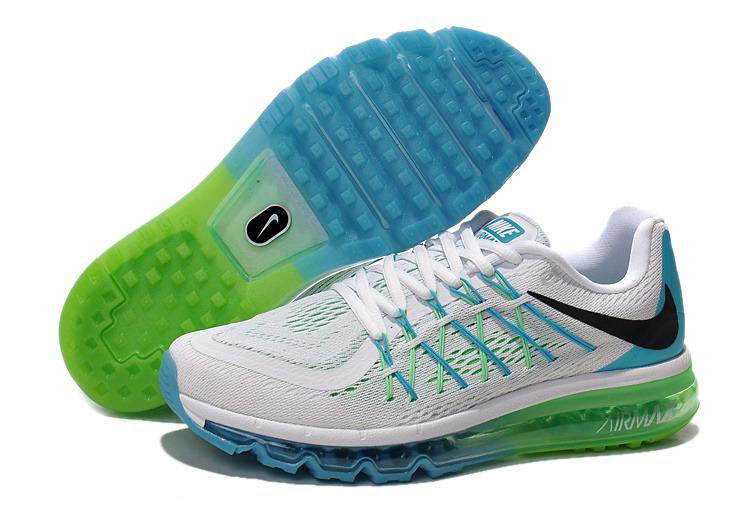 Air Max 2015 White Green Black Blue