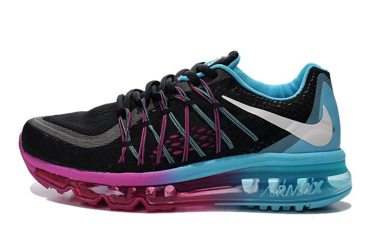 Air Max 2015 Men Nike Shoes Black Purple Blue