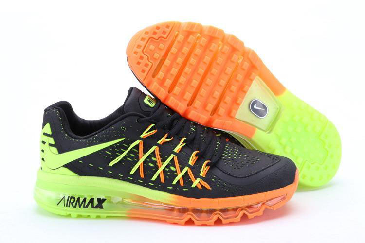 Nike Air Max 2015 Black Green Orange