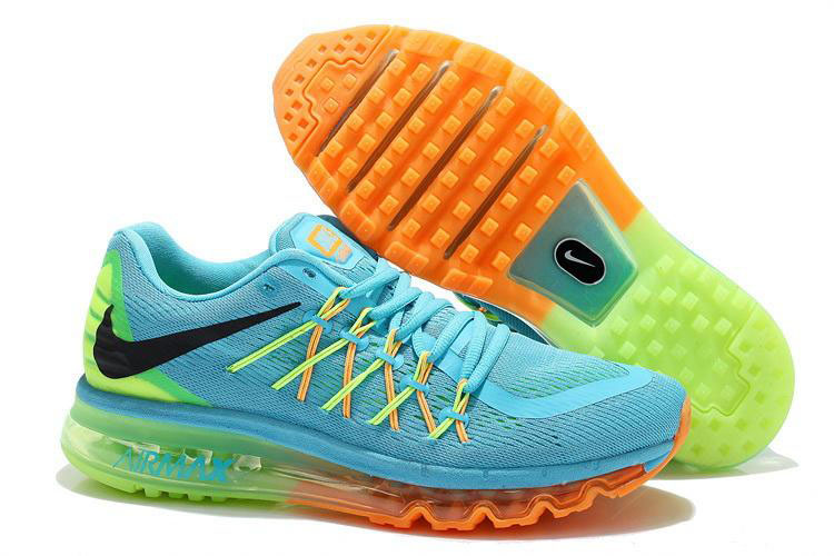 Nike Air Max 2015 Blue Orange Green Black
