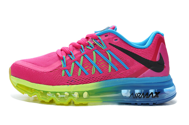 Air Max 2015 Women Pink Blue Fluorescent green