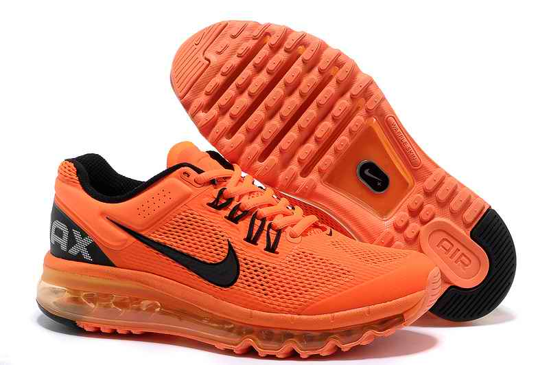 Discount Nike Air Max 2015 Mesh cloth Woman Sports Shoes - Orange Black TV796385