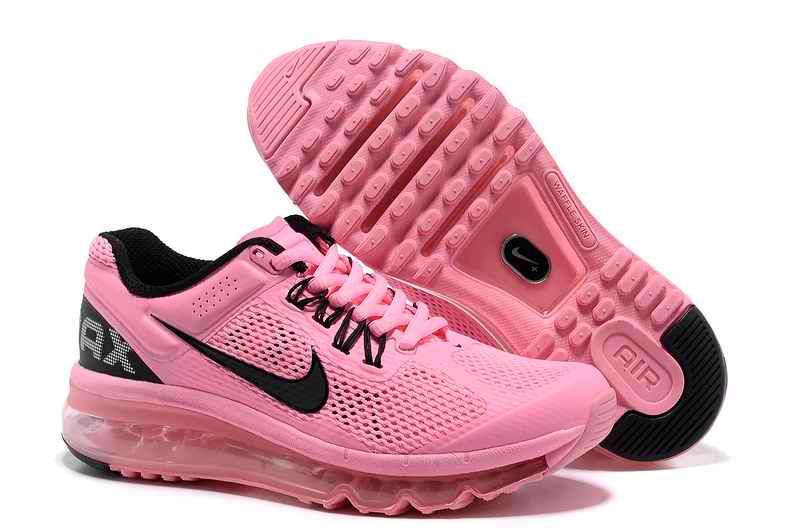 Discount Nike Air Max 2015 Mesh cloth Woman Sports Shoes - Pink Black JG526904