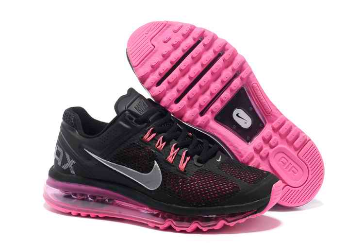 Discount Nike Air Max 2015 Mesh cloth Womans Sports Shoes - Black Peach LW147836