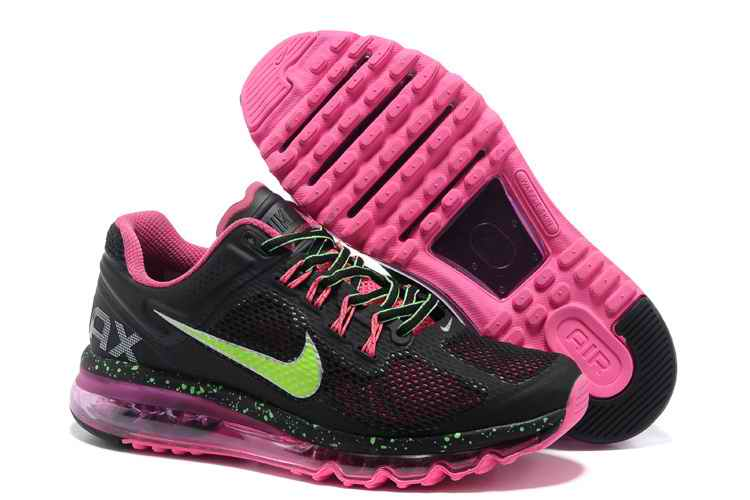 Discount Nike Air Max 2015 Mesh cloth Womans Sports Shoes - Black Pink Green GY912840