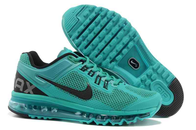 Discount Nike Air Max 2015 Mesh cloth Women's Sports Shoes - Green Black HS923071