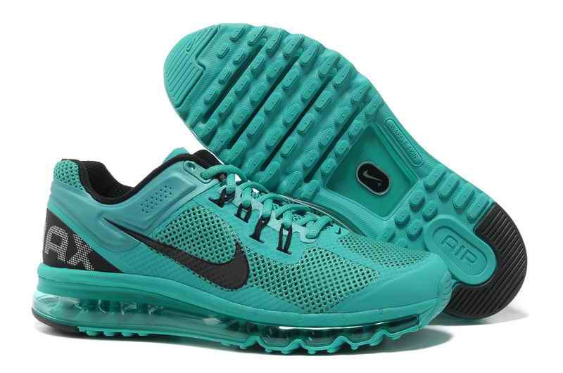 Discount Nike Air Max 2015 Mesh cloth Women's Sports Shoes - Green Black PN453078