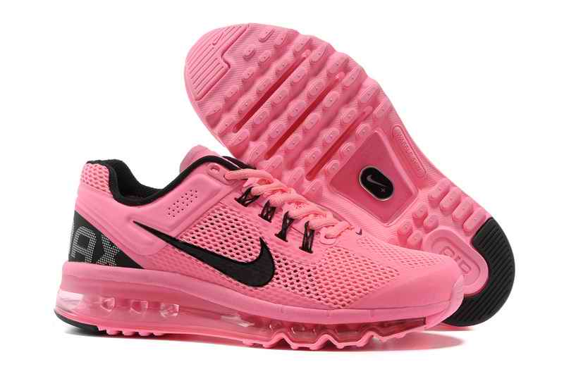 Discount Nike Air Max 2015 Mesh cloth Women's Sports Shoes - Pink Black YQ571628