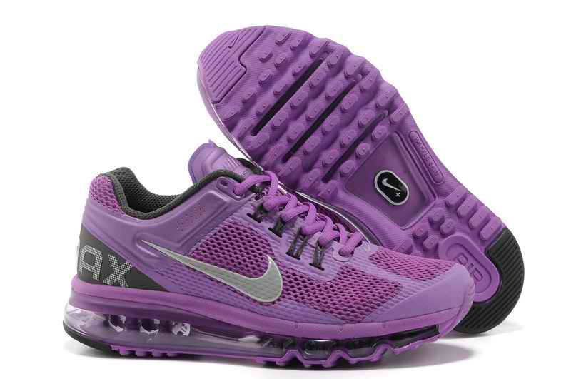 Discount Nike Air Max 2015 Mesh cloth Women's Sports Shoes - Purple SK192673