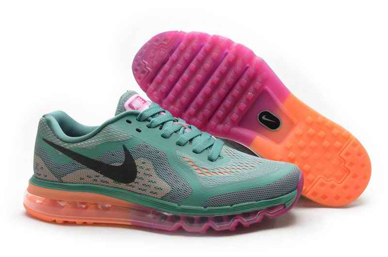 Discount Nike Air Max 2015 Woman Running Shoes - Green Orange Pink YA018269